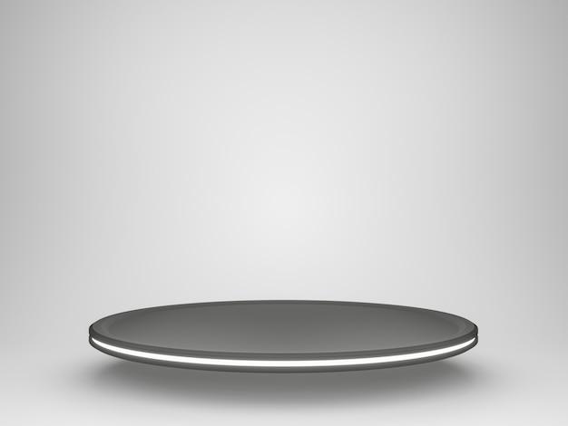 Stand futuriste noir et blanc 3d