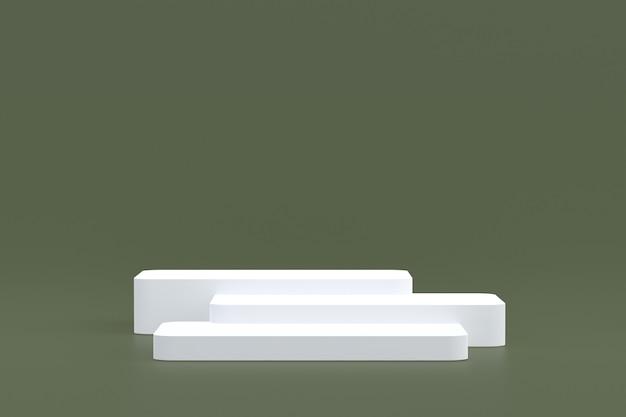 Stand de produit, podium minimal sur fond marron pour la présentation de produits cosmétiques.