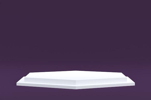 Stand De Produit, Podium Minimal Sur Fond Violet Pour La Présentation De Produits Cosmétiques. Photo Premium