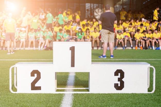 Stand de récompense de sport dans le domaine de sport
