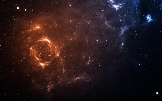 Starfield dans l'espace lointain à plusieurs années-lumière de la terre. éléments de cette image fournis par la nasa