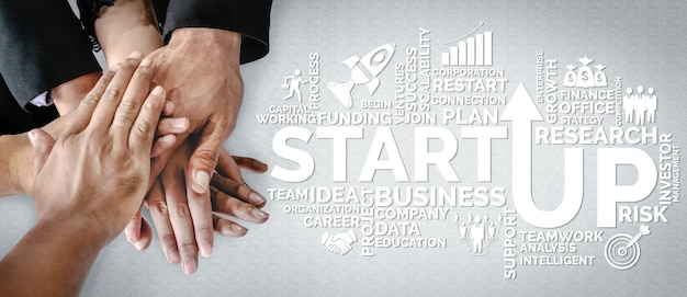 Start up business of creative people concept entrepreneuriat, fonds et plan de projet.