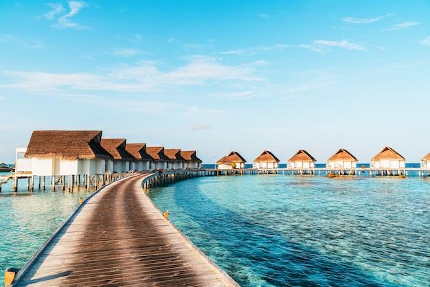 Station balnéaire tropicale des maldives
