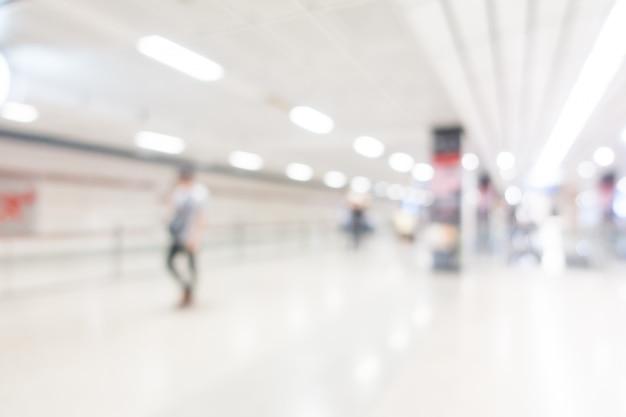 Station de métro flou abstrait