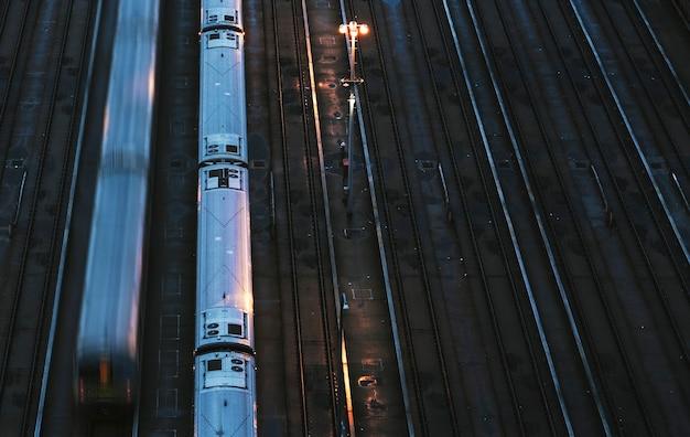 Station de métro à new york, usa