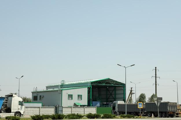 Station de pesée de camion. entreprise de vente de céréales. entreprise agricole