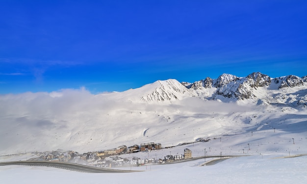 Station de ski d'andorre pas de la casa grandvalira
