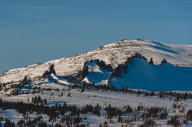 Station de ski sheregesh, district de tashtagol, région de kemerovo, russi