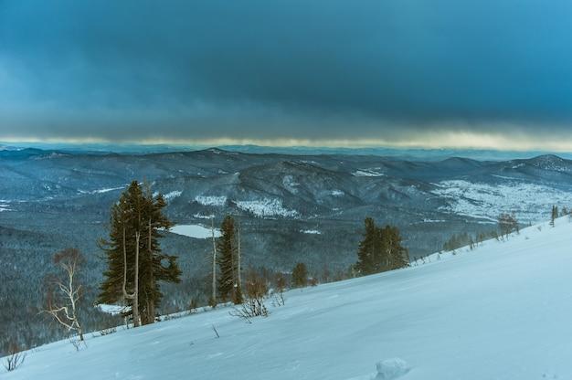 Station de ski sheregesh, district de tashtagol, région de kemerovo, russie