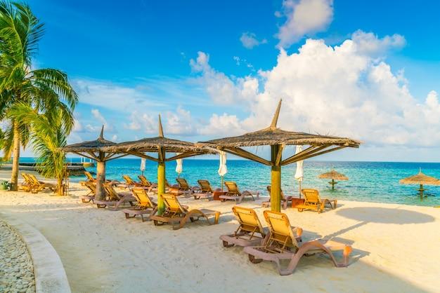 Station solitude tropique océan maldives