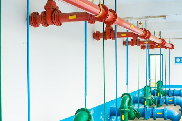Stations d'épuration de l'usine de traitement d'eau en thaïlande.