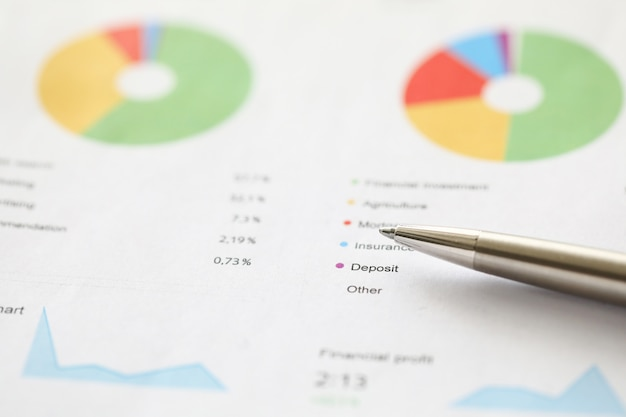 Statistiques sur desk in office