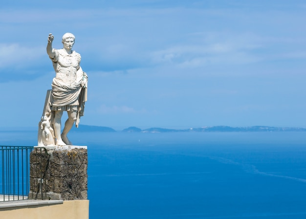Statue d'auguste, anacapri, île de capri, italie
