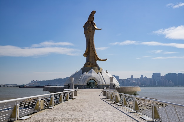 Statue de bouddha cooper guan yin à macao