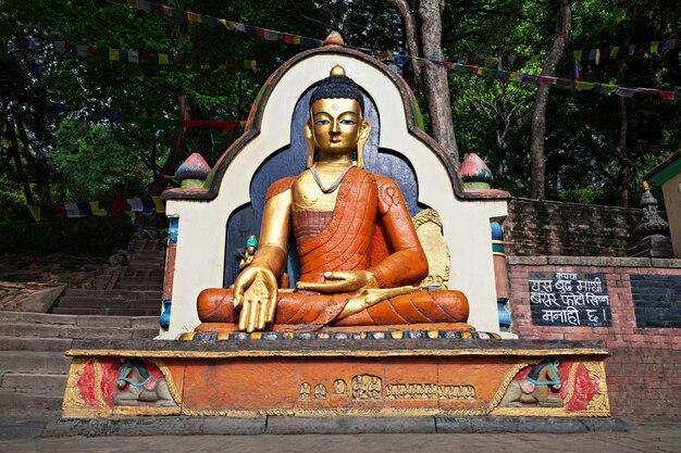 Statue de bouddha à swayambhunath