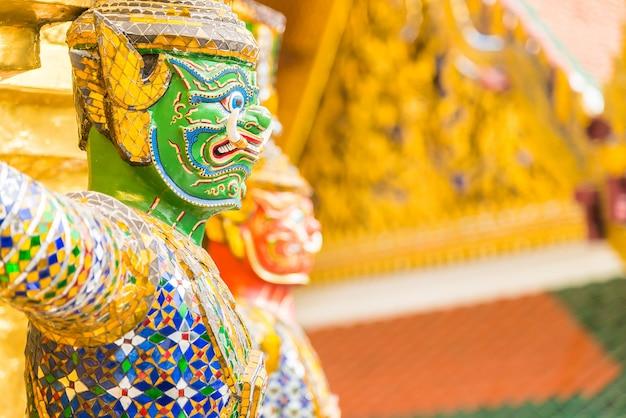 Statue de couleurs