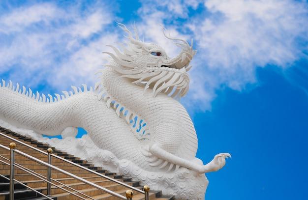 Statue de garde du dragon blanc