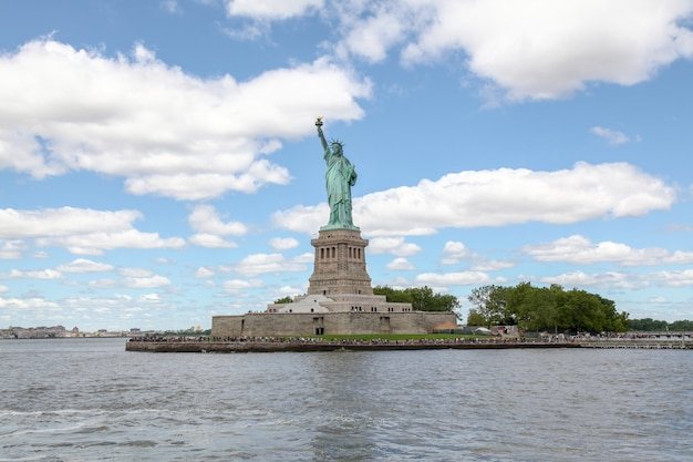 La statue de la liberté à new york, usa