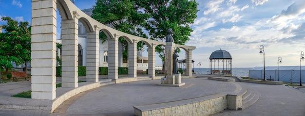 Statue de mihai eminescu à constanta, roumanie