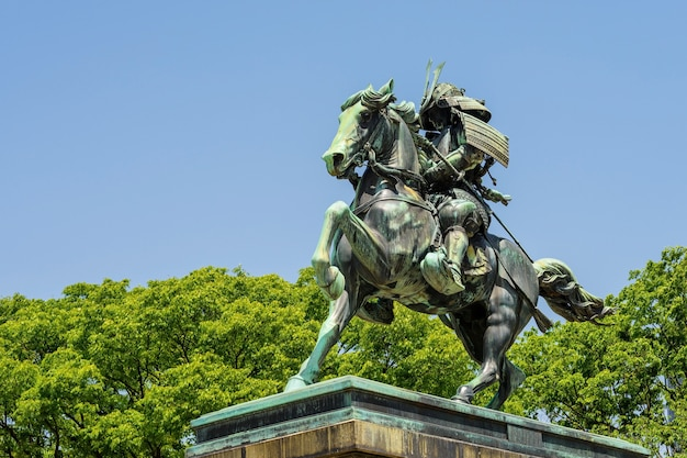 Statue de samouraï kusunoki masashige, tokyo