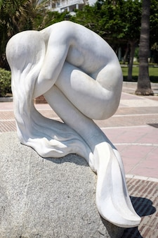 Statue de sirène la sirena à puerto banus