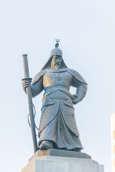 Statue de soldat dans la ville de séoul en corée