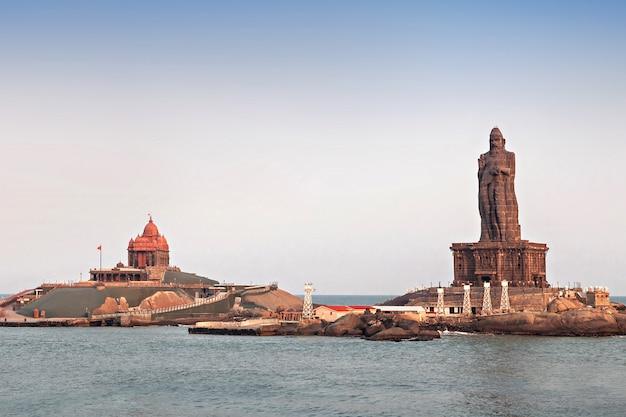 Statues vivekananda et thiruvalluvar
