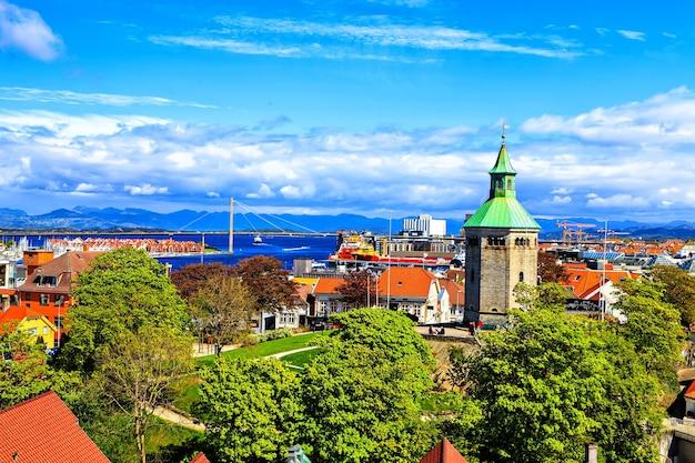 Stavanger, norvège : paysage panoramique du haut