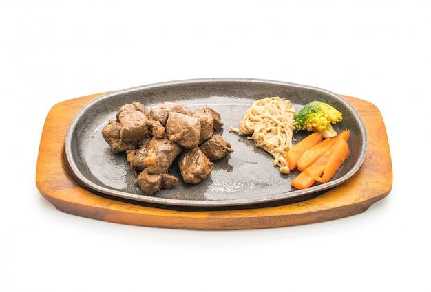 Steak de bœuf aux légumes