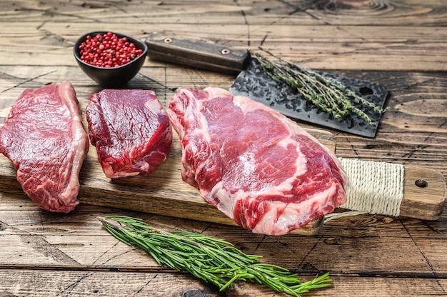 Steak de bœuf black angus cru frais