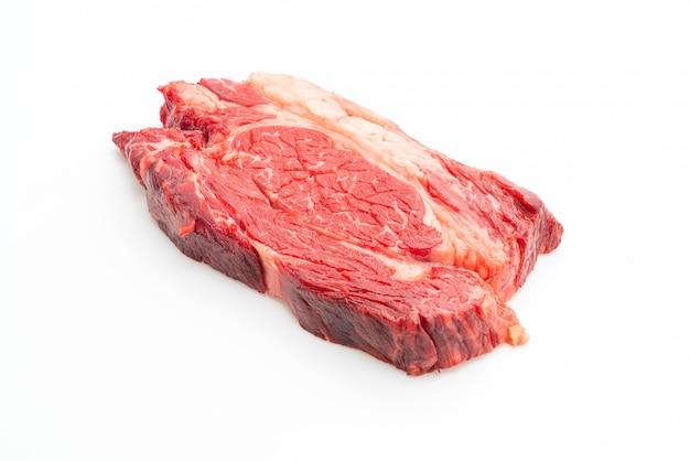 Steak de boeuf cru frais ou viande crue