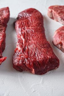 Steak de bœuf cru triangle