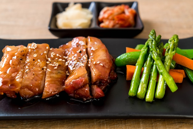 Steak de chériken teriyaki