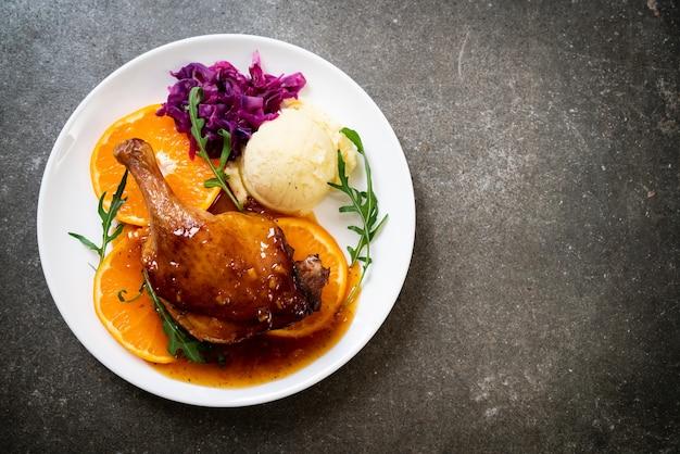 Steak de cuisse de canard sauce à l'orange
