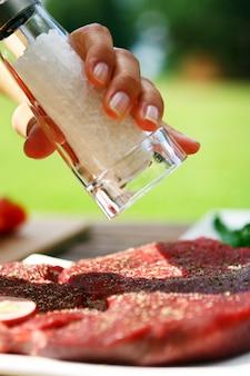 Steak frais et très savoureux