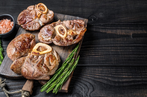Steak de jarret de veau cuit osso buco