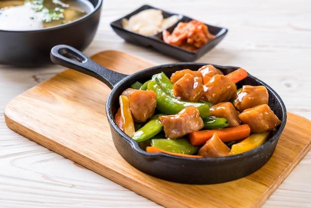 Steak de porc à la japonaise