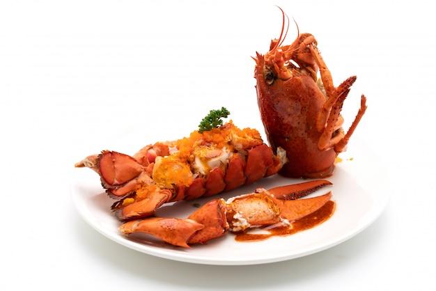 Steak de queue de homard avec sauce