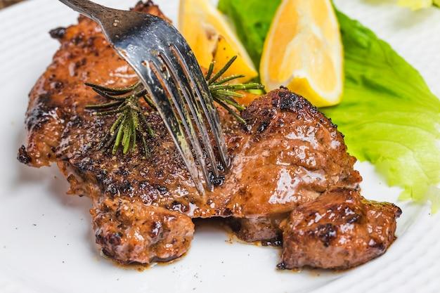 Steak rôti