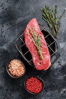 Steak de surlonge cru, viande de bœuf
