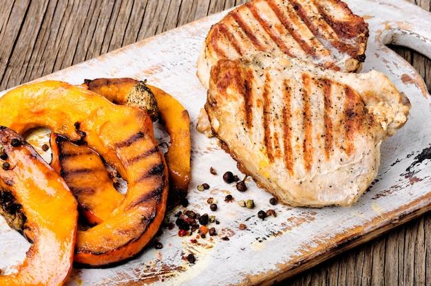 Steak de viande à la citrouille