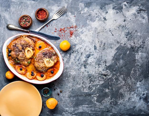 Steak de viande italienne ossobuco