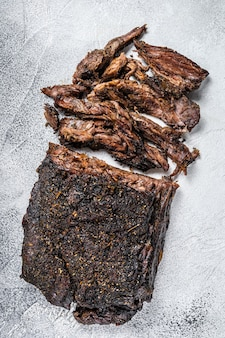 Steak de viande de poitrine de boeuf bbq fumé