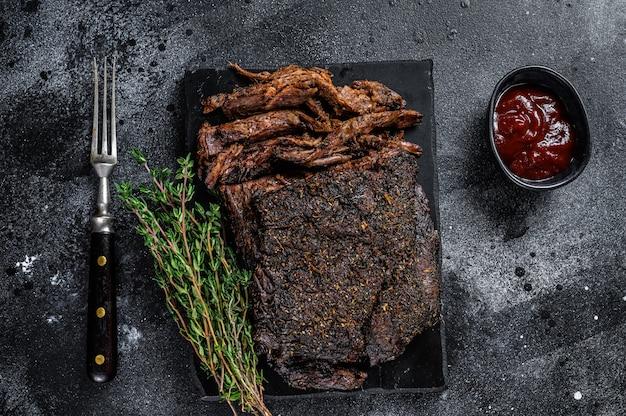 Steak de viande de poitrine de boeuf fumé bbq à la texas