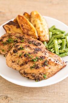 Steaks de poulet grillés