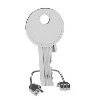 Steel posant clé avec un panneau vide
