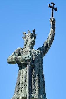 Stephen le grand statue à chisinau, moldavie