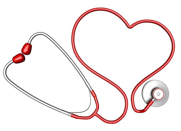 Stéthoscope en forme de coeur