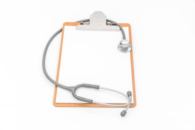 Stéthoscope sur l'information du patient