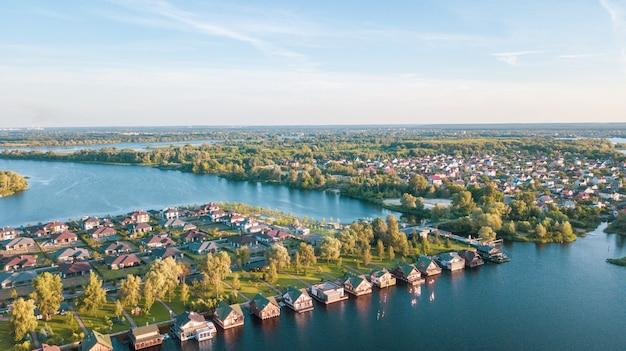 Stock image aérienne d'un quartier résidentiel
